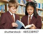 pupils wearing school uniform... | Shutterstock . vector #485238907