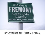 welcome to fremont   center of... | Shutterstock . vector #485247817