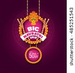 big navratri sale banner design ... | Shutterstock .eps vector #485251543