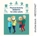 informational poster template... | Shutterstock .eps vector #485252467