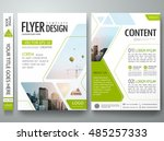 brochure design template vector.... | Shutterstock .eps vector #485257333