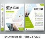 brochure design template vector.... | Shutterstock .eps vector #485257333