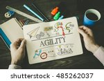 Small photo of AGILITY sketch on notebook