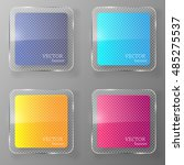 glass banner set. vector... | Shutterstock .eps vector #485275537