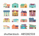 big set of houses  buildings... | Shutterstock . vector #485282533