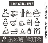 line icons black set 6.... | Shutterstock .eps vector #485302867