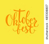 oktoberfest beer label.... | Shutterstock .eps vector #485308807