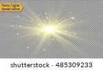 glow light effect. star burst... | Shutterstock .eps vector #485309233
