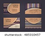 business card or visiting card... | Shutterstock .eps vector #485310457
