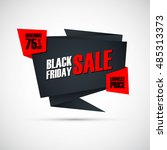 black friday sale. special...   Shutterstock .eps vector #485313373