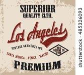 grunge  t shirt graphic design  ...   Shutterstock .eps vector #485326093
