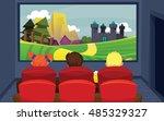 vector illustration of kids in... | Shutterstock .eps vector #485329327