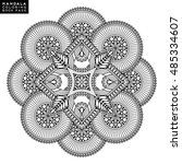 flower mandala. vintage... | Shutterstock .eps vector #485334607