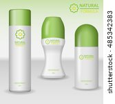 natural formula deodorant and... | Shutterstock .eps vector #485342383