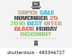 black friday inscription over... | Shutterstock .eps vector #485346727