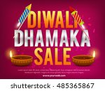 diwali dhamaka sale banner with ... | Shutterstock .eps vector #485365867