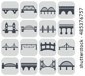 vector isolated bridges icons... | Shutterstock .eps vector #485376757