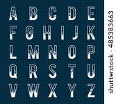 snowy alphabets   Shutterstock .eps vector #485383663