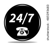 24 7 support phone icon.... | Shutterstock . vector #485393683