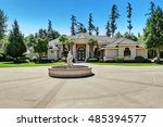 suburban family house with... | Shutterstock . vector #485394577