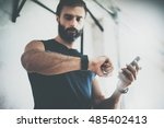 photo bearded sportive man... | Shutterstock . vector #485402413