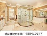 beautiful luxury marble... | Shutterstock . vector #485410147