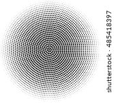 spiral fibonacci dots vector... | Shutterstock .eps vector #485418397