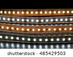 group of led lighting on black... | Shutterstock . vector #485429503