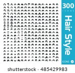 set of hair style icons | Shutterstock .eps vector #485429983
