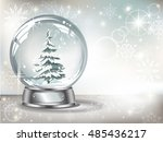 vector realistic transparent...   Shutterstock .eps vector #485436217