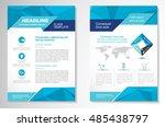 vector brochure flyer design... | Shutterstock .eps vector #485438797