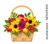 vector illustration of a basket ... | Shutterstock .eps vector #485439343
