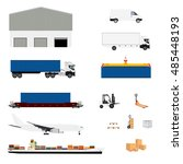 vector illustration freight... | Shutterstock .eps vector #485448193