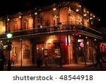 brick building with balcony on... | Shutterstock . vector #48544918