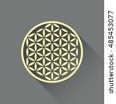 flower of life vector  flat... | Shutterstock .eps vector #485453077