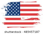 a flag illustration of the... | Shutterstock . vector #485457187