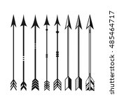 arrows set. cupid's arrows.... | Shutterstock .eps vector #485464717