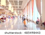 blur image of  people walking ... | Shutterstock . vector #485498443