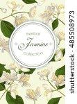vector jasmine flowers vertical ... | Shutterstock .eps vector #485508973