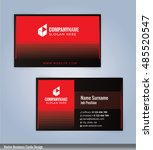 black and red modern business... | Shutterstock .eps vector #485520547