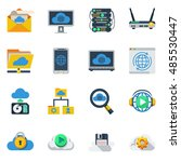 Cloud Service Flat Color Icons...