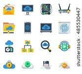 Cloud Service Flat Color Icons...