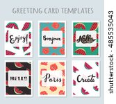 set of 6 ready made invitations ... | Shutterstock .eps vector #485535043