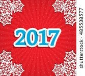 new year's background with the... | Shutterstock .eps vector #485538577