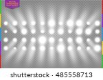 white disco spotlight light... | Shutterstock .eps vector #485558713
