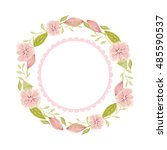 abstract vector vintage floral... | Shutterstock .eps vector #485590537