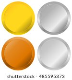 gold  silver  bronze and... | Shutterstock . vector #485595373