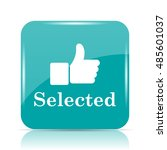 selected icon. internet button... | Shutterstock . vector #485601037