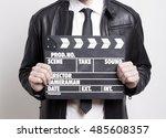 businessman holding a...   Shutterstock . vector #485608357