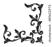 vintage baroque element... | Shutterstock .eps vector #485622973
